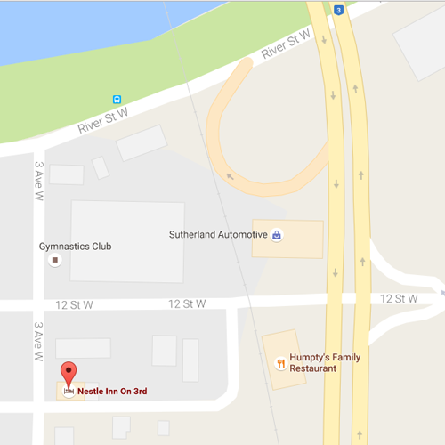 Map Location of Nestle Inn on 3rd